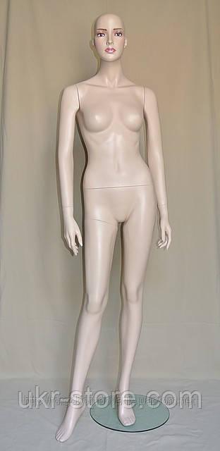 Манекен телесный женский на стеклянной подставке