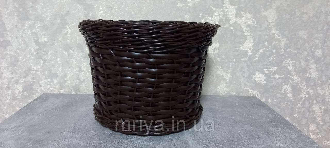 Кашпо плетене коричневе 12 л