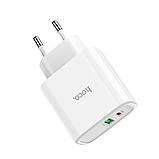 Сетевой адаптер питания Hoco C57A White HOCO Speed C57A  Type-C/USB, PD/QC3.0, 3A , фото 2
