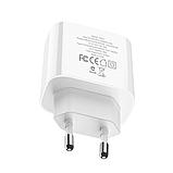 Сетевой адаптер питания Hoco C57A White HOCO Speed C57A  Type-C/USB, PD/QC3.0, 3A , фото 4