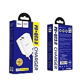 Сетевой адаптер питания Hoco C57A White HOCO Speed C57A  Type-C/USB, PD/QC3.0, 3A , фото 5
