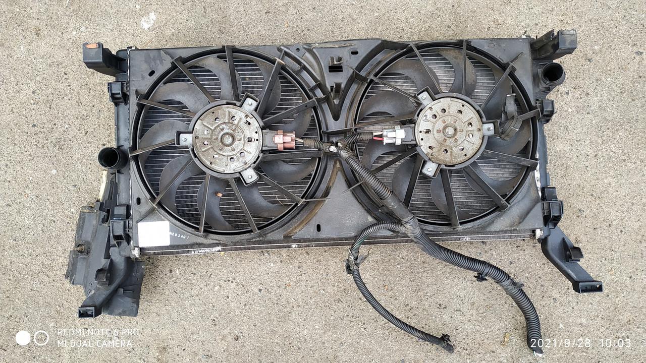 Вентилятор охлаждения основной с диффузором Рено Лагуна 3 б/у