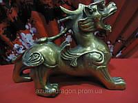 Пи Яо индийское божество статуэтка из бронзы