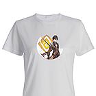 Футболка з принтом Genshin Impact Чжун Лі (Гео Архонт Моракс). Бавовна. Чорна, біла. Друк будь-якого зображення, фото 2