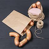 Паперові крафт пакети для хліба, м'яса, овочів 220*80*380 мм, упаковка 1000 шт, фото 4