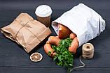 Паперові пакети для упаковки ковбаси 220*80*380 мм крафт пакети для їжі, фото 4