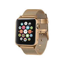 Ремешок для Apple Watch 38mm/40mm Milanese Loop Watch Band with buckle Vintage Gold