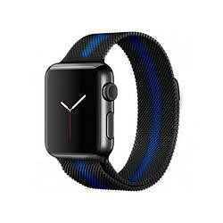 Ремешок для Apple Watch 42mm/44mm Milanese Loop Watch Band Black/Blue