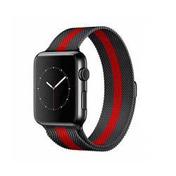 Ремешок для Apple Watch 42mm/44mm Milanese Loop Watch Band Black/Red