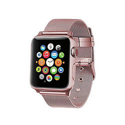 Ремешок для Apple Watch 42mm/44mm Milanese Loop Watch Band with buckle Rose Gold
