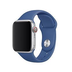 Ремешок для Apple Watch 38mm/40mm Silicone Watch Band Delf Blue