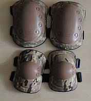Налокотники и наколенники Tactical Gear №4 (мультикам)
