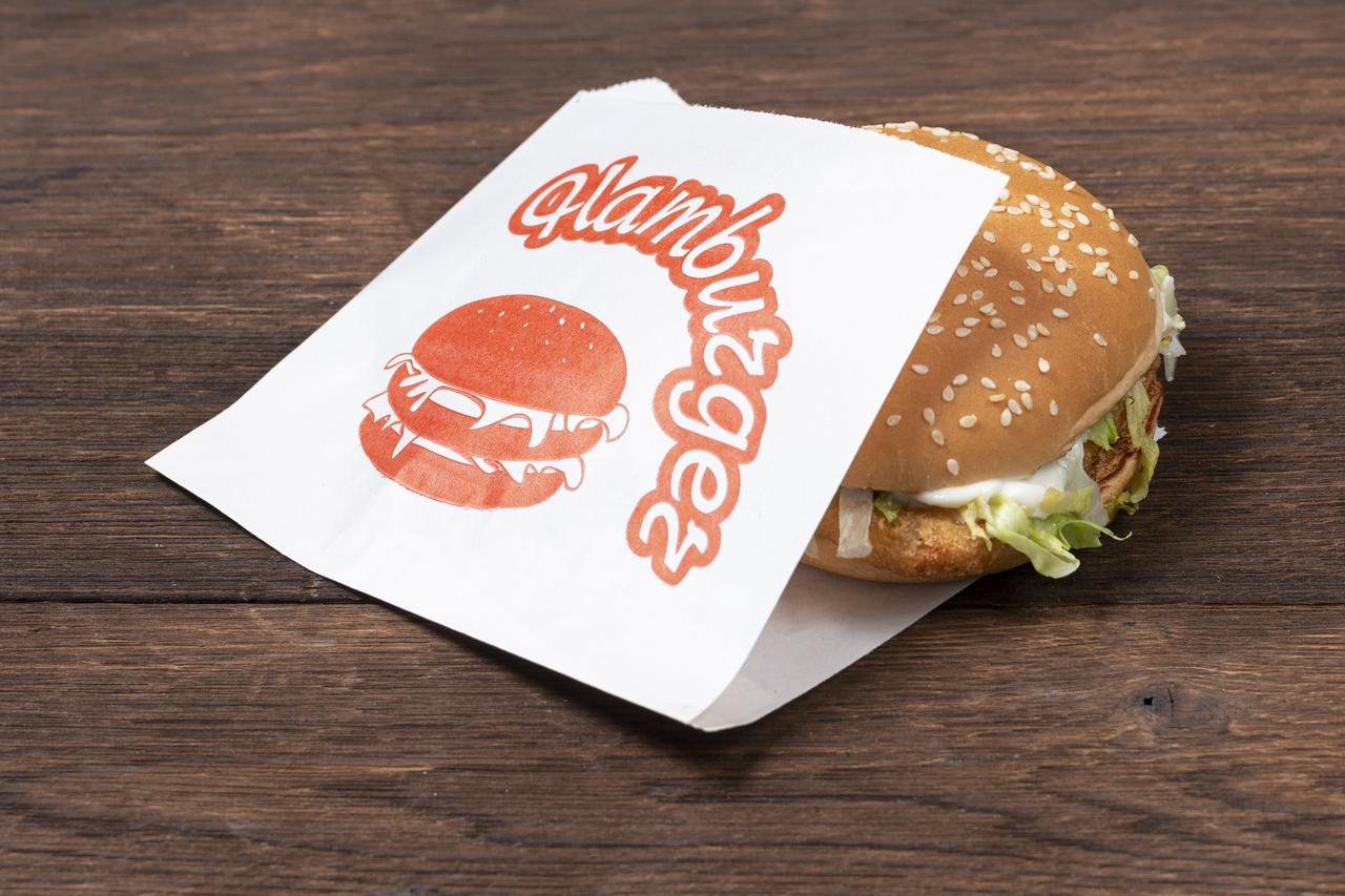 Паперові куточки для гамбургерів крафт білий 150*150 мм, упаковка 1000 шт