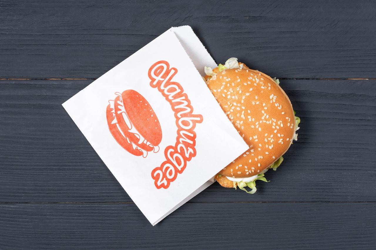 Пакет бумажный уголок для бургеров 150*130 белый, упаковка 1000 шт
