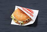 Пакет бумажный уголок для бургеров 150*130 белый, упаковка 1000 шт, фото 5