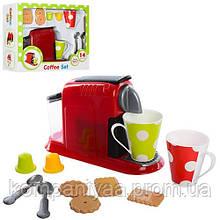Игровой набор Кофеварка XG1-2, поднос, чашки, ложки, 22 см