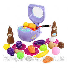 Игровой набор Мультиварка QC-6B, посуда, продукты, 18 см (Фиолетовый)