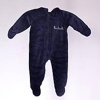 Детский теплый комбинезон 74-80 размер (Синий)