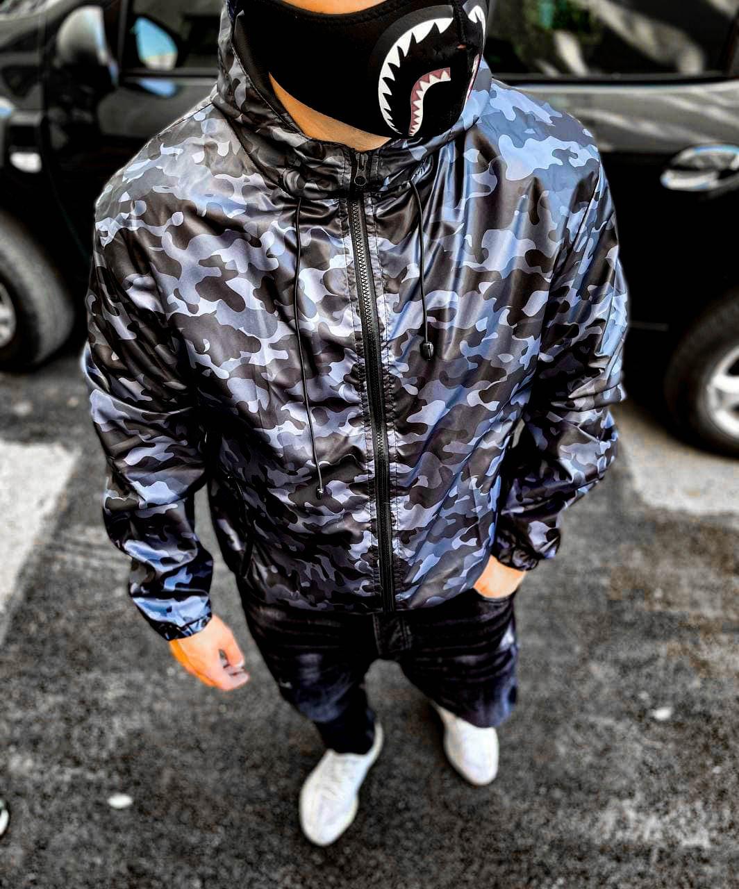 Чоловіча куртка камуфляжна бейп bape модна всі розміри куртки пром вітрівка плащівка чоловіча