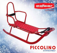 Adbor Piccolino санки детские со спинкой, цвет красный