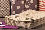 Паперові харчові пакети саше 180*50*280 мм крафт пакет під випічку, фото 6