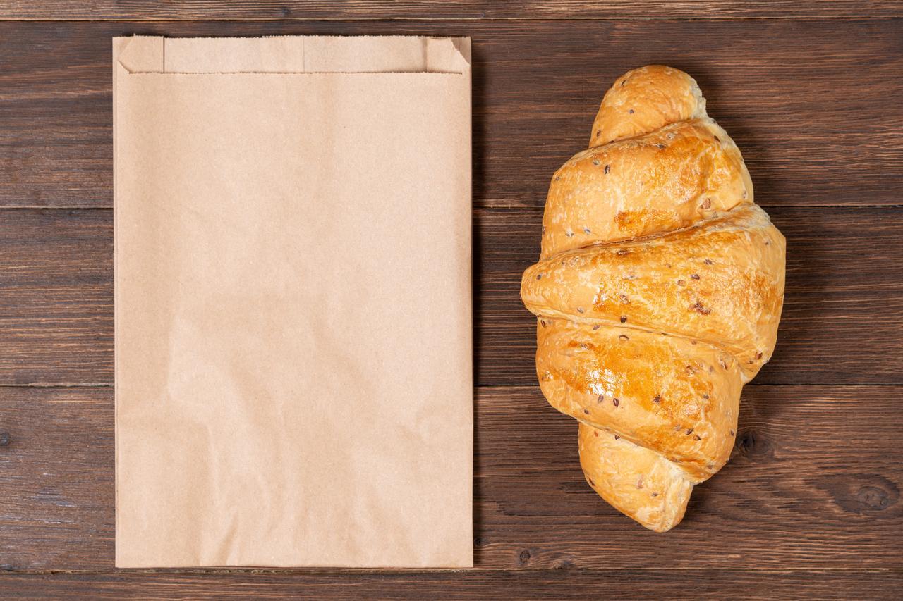 Паперові харчові пакети саше 180*50*280 мм крафт пакет під випічку
