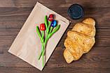 Паперові харчові пакети саше 180*50*280 мм крафт пакет під випічку, фото 7