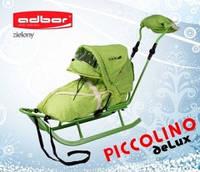Детские санки Adbor Piccolino DeLux, цвет зеленый