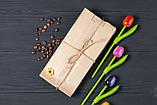 Крафт бумажные пакеты для сухофруктов, орехов 100*70*230 мм пакет саше бурый, фото 5