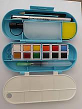 Набір акварелі 12 кольорів для скетчинга 7см*17см*4см