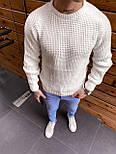 😜 Светр Чоловічий светр білий / чоловічий плотний светр білий вязаний, фото 2