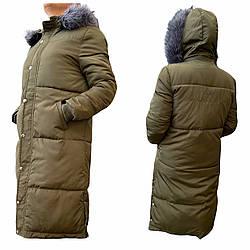 Женская зимняя удлинённая куртка