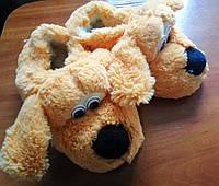Женские меховые тапочки Собака, фото 1