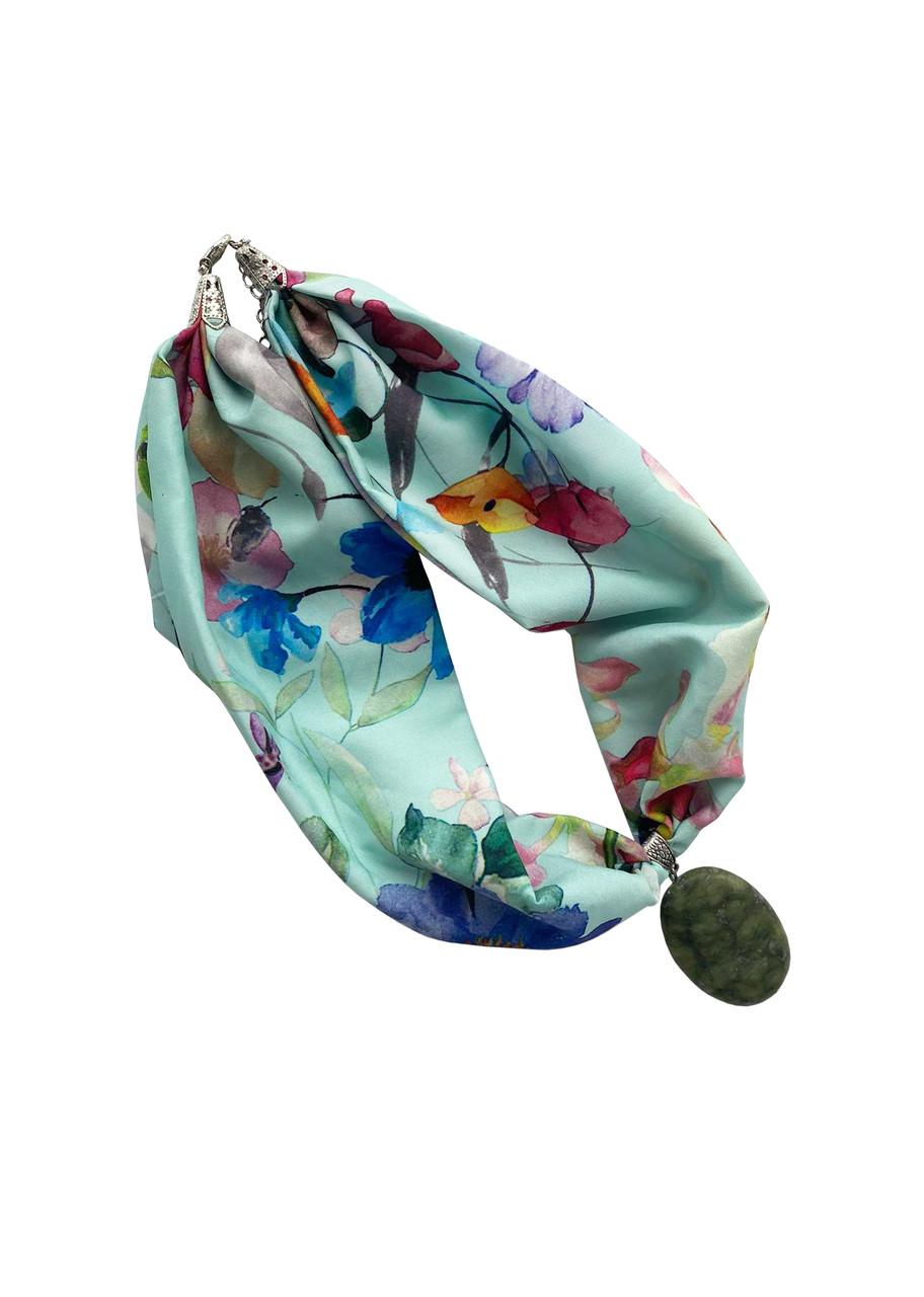 """Стильне жіноче кольє """"блакитна ніжність"""" від my scarf, стильний чокер"""
