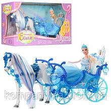 Детская игрушка Карета с лошадью 223A, со звуковыми эффектами