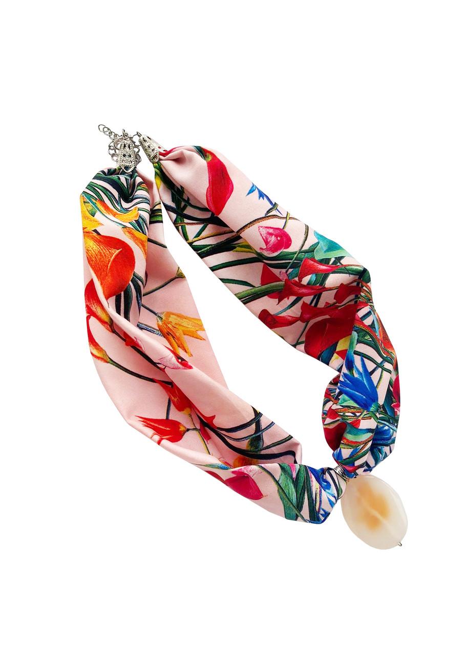 """Стильное женское колье """"Ньанс весной"""" от my scarf,  стильный чокер"""