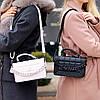 Брендовая городская женская белая мини сумка клатч с цепью кросс боди через плечо, фото 9