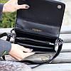 Брендовий міська жіноча чорна міні сумка клатч з ланцюгом крос боді через плече, фото 3