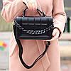 Брендовий міська жіноча чорна міні сумка клатч з ланцюгом крос боді через плече, фото 7