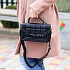 Брендовий міська жіноча чорна міні сумка клатч з ланцюгом крос боді через плече, фото 5