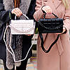 Брендовий міська жіноча чорна міні сумка клатч з ланцюгом крос боді через плече, фото 9