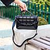 Брендовий міська жіноча чорна міні сумка клатч з ланцюгом крос боді через плече, фото 8