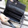 Стильна міська жіноча чорна міні сумка клатч ручки ланцюг крос боді через плече, фото 6