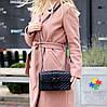 Стильна міська жіноча чорна міні сумка клатч ручки ланцюг крос боді через плече, фото 7