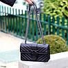 Стильна міська жіноча чорна міні сумка клатч ручки ланцюг крос боді через плече, фото 8