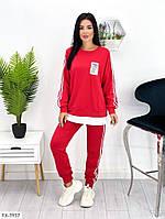 Стильный повседневный трикотажный спортивный костюм штаны и кофта с лампасами Размер: 44-46, 46-48 арт. 638, фото 1