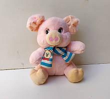 М'яка іграшка Свинка 26 см з шарфиком. pro