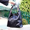 Комплект двостороння чорна бежева Сумка-шоппер Двостороння 2в1 з сумочкою-вкладишем косметичка, фото 4