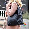 Комплект двостороння чорна бежева Сумка-шоппер Двостороння 2в1 з сумочкою-вкладишем косметичка, фото 6