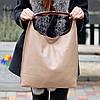 Комплект двостороння коричнева бежева Сумка-шоппер Двостороння 2в1 з сумочкою-вкладишем косметичка, фото 3